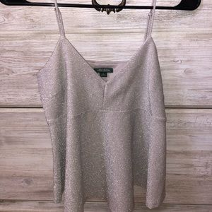 Sparkly gray tank top from target